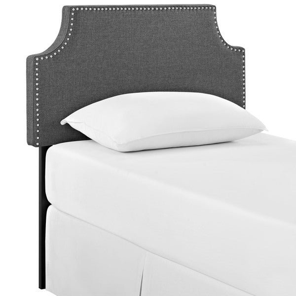 Laura Grey Fabric Headboard