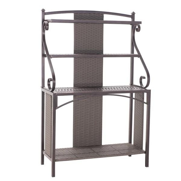 Sunjoy Sophie Aluminum/Steel Bakers Rack