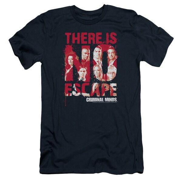Criminal Minds/No Escape Short Sleeve Adult T-Shirt 30/1 in Navy