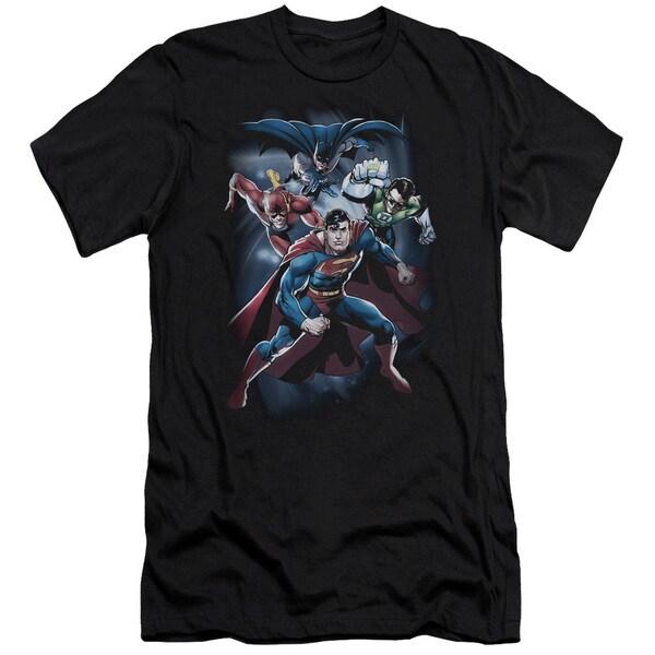 JLA/Cosmic Crew Short Sleeve Adult T-Shirt 30/1 in Black