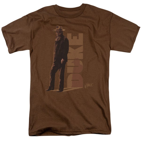 John Wayne/Lean Short Sleeve Adult T-Shirt 18/1 in Coffee