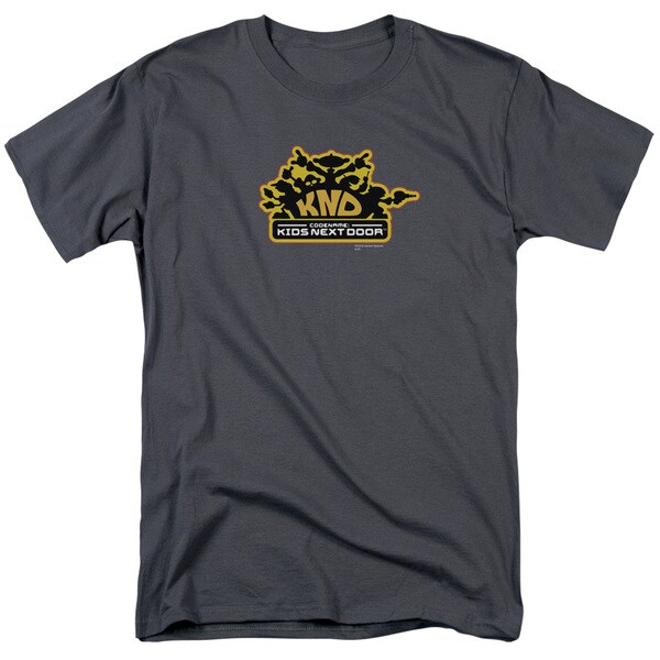 Kids Next Door/Knd Logo Short Sleeve Adult T-Shirt 18/1 in Charcoal
