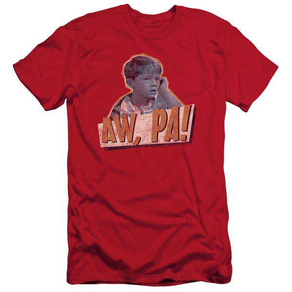 Andy Griffith/Aw Pa Short Sleeve Adult T-Shirt 30/1 in Red