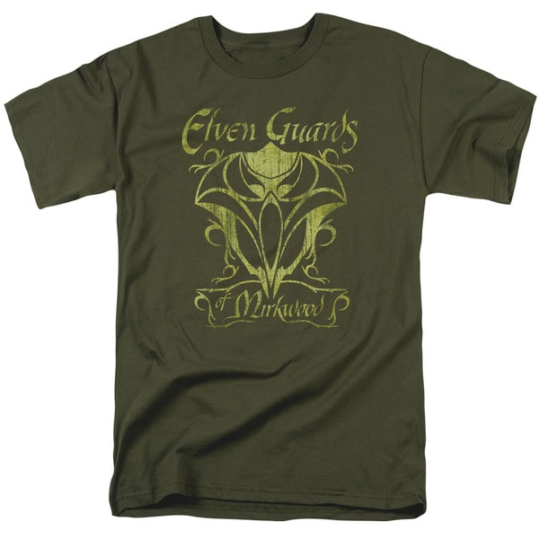Hobbit/Guards Of Mirkwood Short Sleeve Adult T-Shirt 18/1 in Military Green