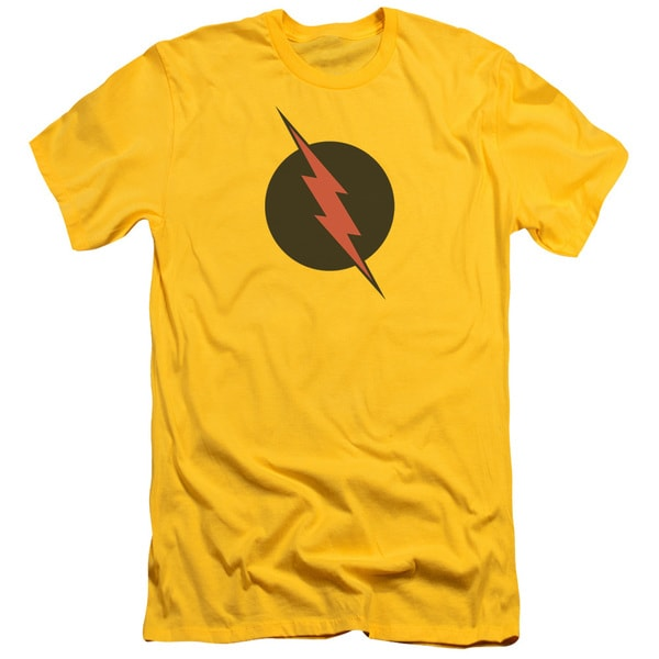 JLA/Reverse Flash Short Sleeve Adult T-Shirt 30/1 in Yellow