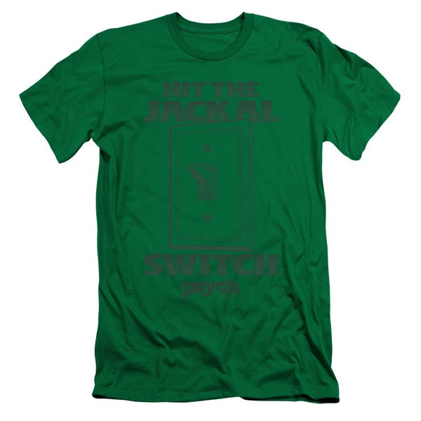 Psych/Jackal Switch Short Sleeve Adult T-Shirt 30/1 in Kelly Green