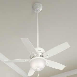 """Hunter 44"""" Donegan Ceiling Fan with LED Light Kit and Pull Chain - White"""