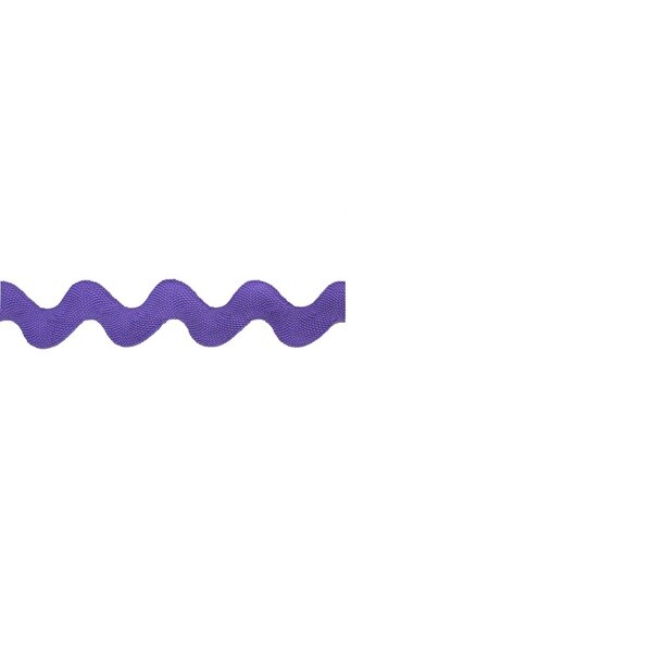 Purple 20-millimeter Rickrack Trim