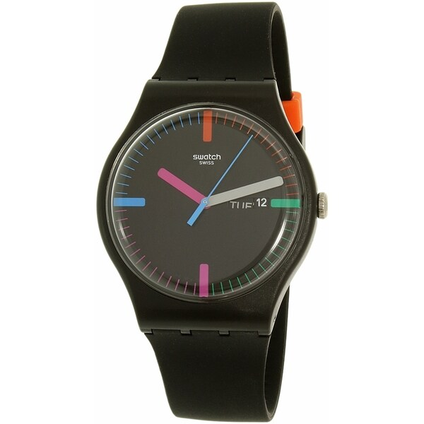 Swatch Women's Originals SUOB719 Black Silicone Swiss Quartz Watch