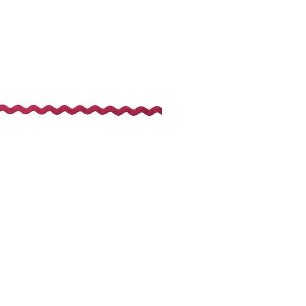 Cerise Pink 3/8-inch Rickrack Trim