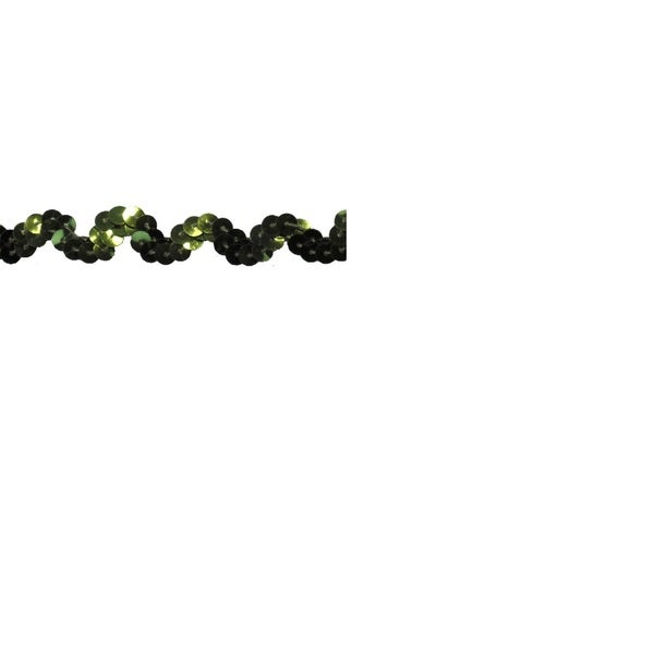 Lime Green 5/8-inch Sequin Trim