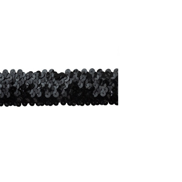 1 1/2-inch Black Sequin Trim