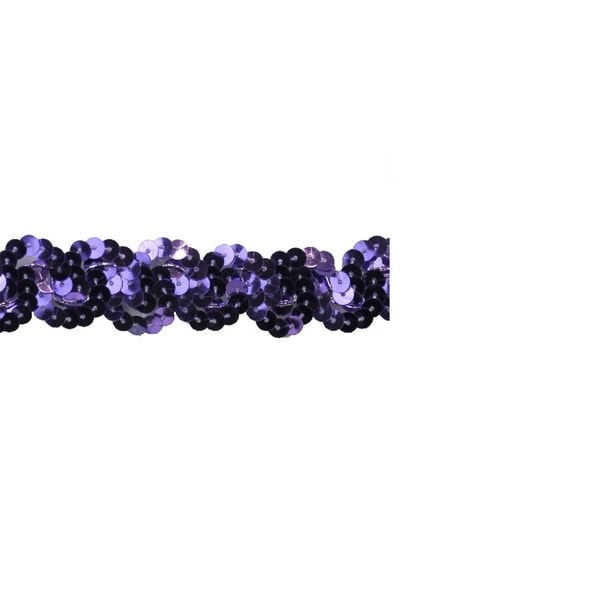 1-inch Purple Sequin Trim