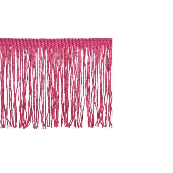 Pink Polyester 10-yard x 4-inch Chainette Fringe Trim