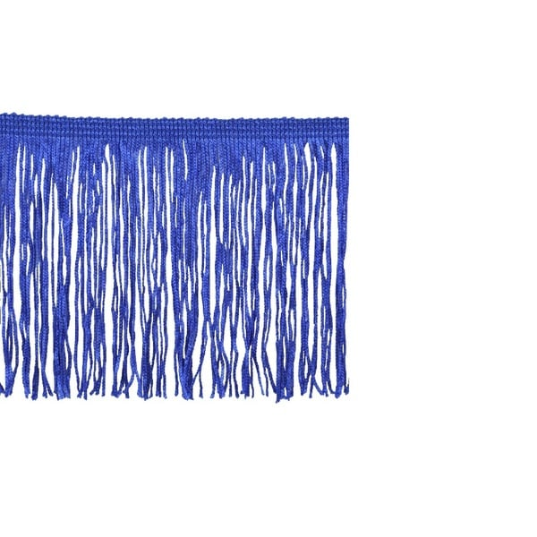 Blue Polyester 10-yard x 4-inch Chainette Fringe Trim