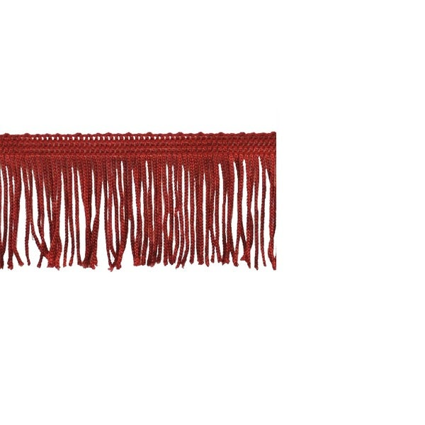 2-inch Red Chainette Fringe