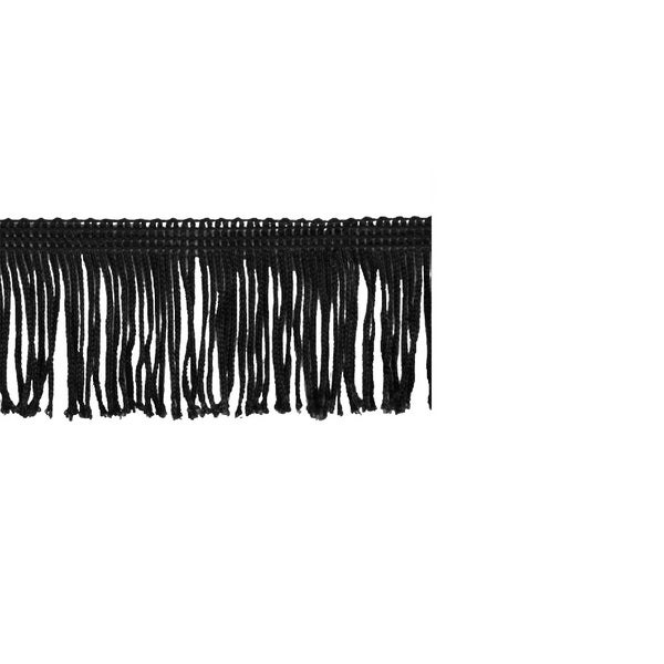 Black Polyester 10-yard x 2-inch Chainette Fringe Trim