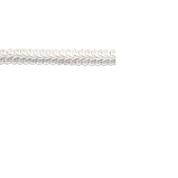 White Polyester 25-yard x 1/2-inch Braid Trim