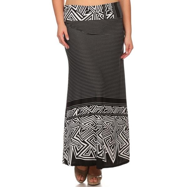 Plus Size Women's Black Maxi Skirt