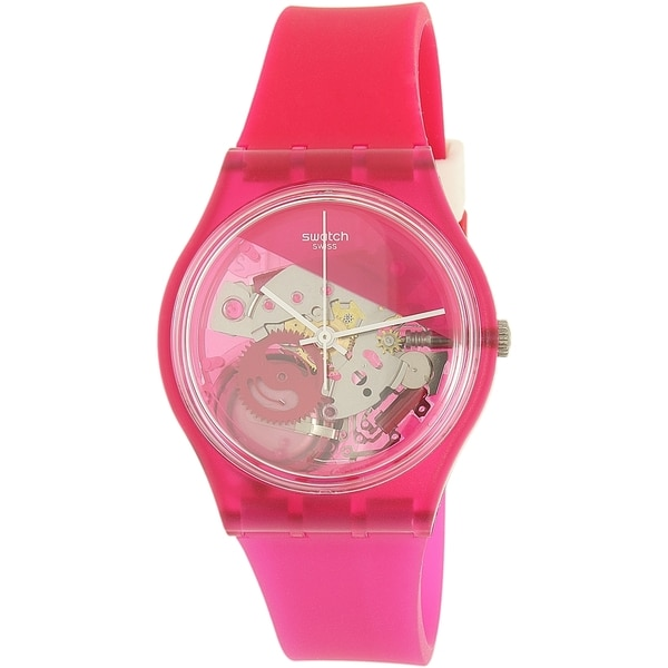 Swatch Women's Originals GP146 Pink Plastic Swiss Quartz Watch