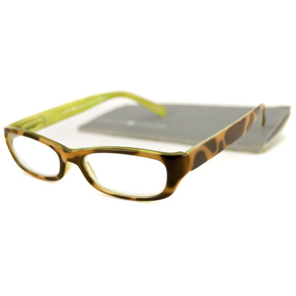 Gabriel + Simone Square Tortoise And Citron Reading Glasses 20217442