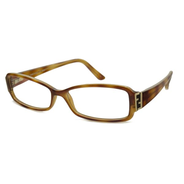 Fendi Readers Square Light Havana Reading Glasses