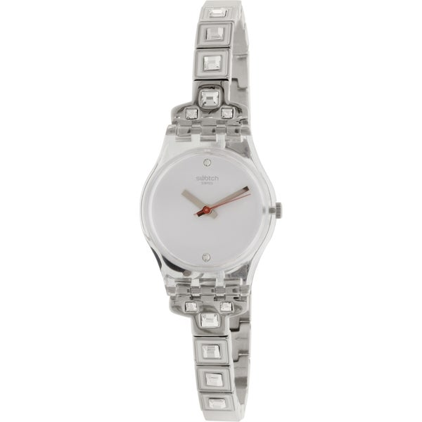 Swatch Women's Originals LK350G Silver Stainless Steel Quartz Watch