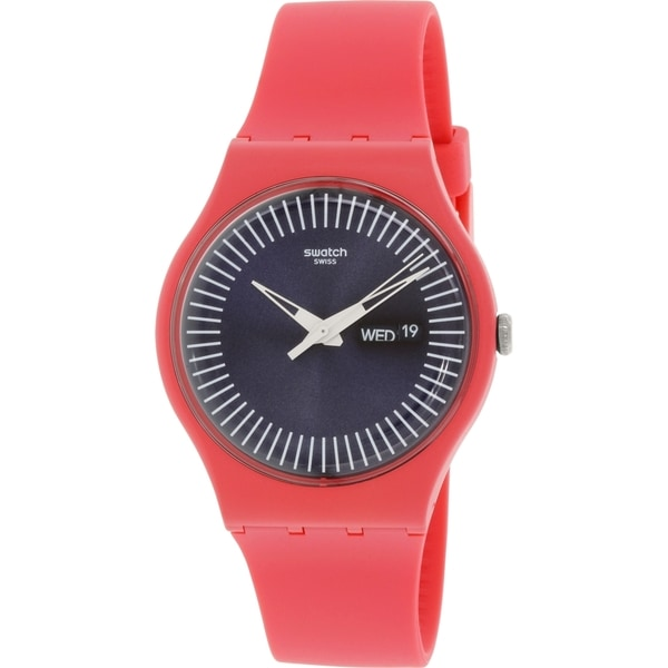 Swatch Women's Originals SUOP702 Pink Silicone Swiss Quartz Watch
