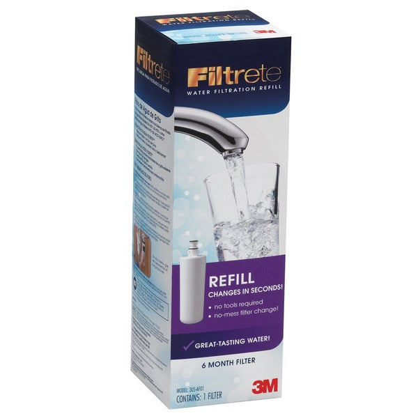 3M 3US-AF01 Advanced Faucet Water Replacement Filter Cartridge 20218337