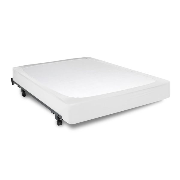 Fashion Bed Group StyleWrap White Fabric Box Spring Cover Queen Size (As Is Item) 20218584