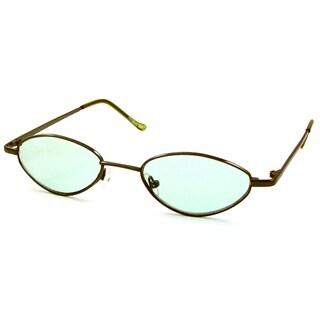 UrbanSpecs B23006-GG Round Green Sunglasses