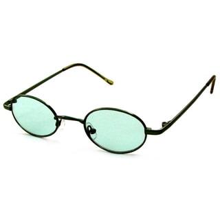 UrbanSpecs B23009-green Round Green Sunglasses