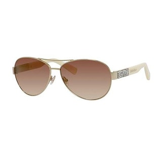Jimmy Choo Baba/S-09D4 Aviator Brown Mirror Gold Sunglasses