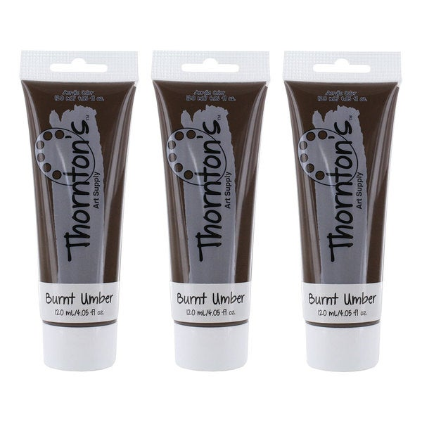 Thornton's Art Supply Burnt Umber 120 ml/4 oz. Acrylic Paint Tube