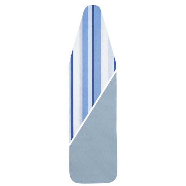 Household Essentials 7707 Reversible Blue Striped Padded Ironing Board Cover