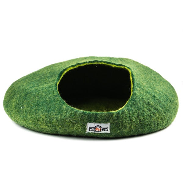 Green Wool Round Yeti Pet Cave