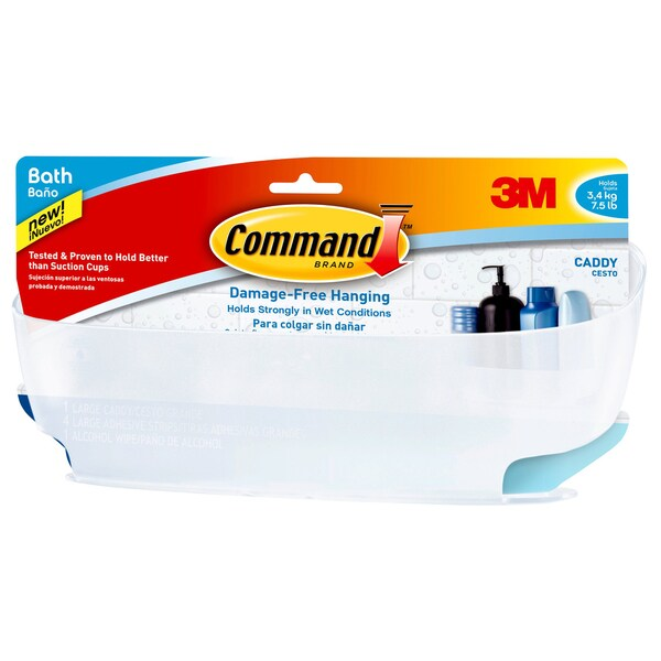 Command Strips BATH11-ES Command Shower Caddy With Water-Resistant Strips 20222680