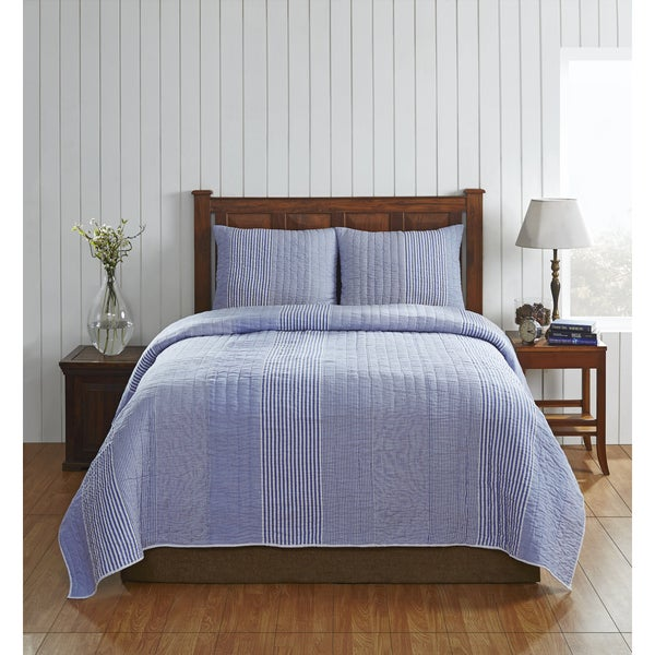 Frankie Cotton Stripe Quilt Set