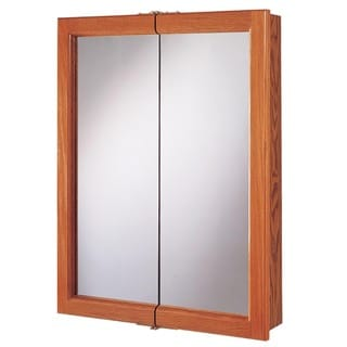 "Hardware House 419150 24"" x 5"" x 30"" Honey Oak Medicine Cabinet"