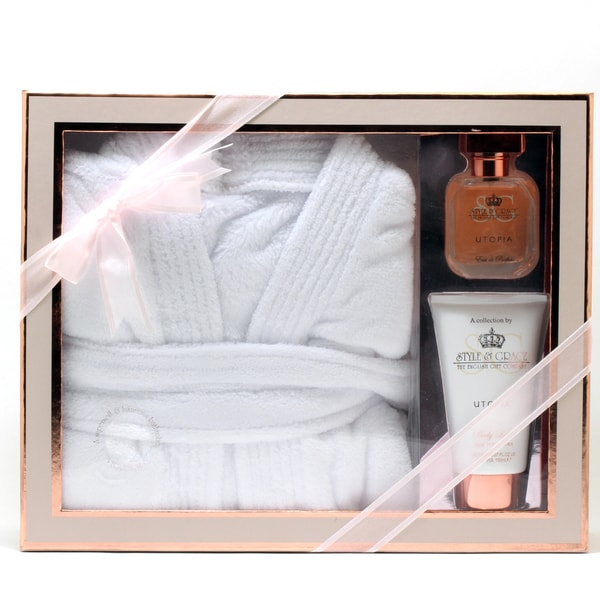 Style & Grace Utopia Extravagant 3-piece Spa Set with Robe
