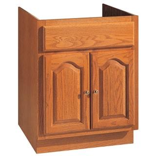 """Hardware House 419614 24"""" X 18"""" Oak Heritage Two Door Vanity"""