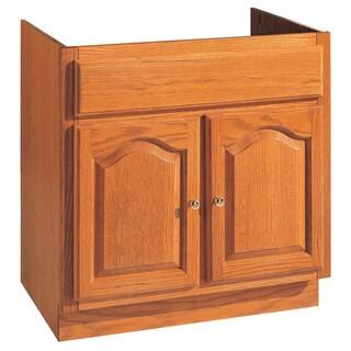 """Hardware House 419705 30"""" X 21"""" Oak Heritage Two Door Vanity"""