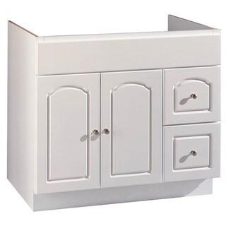 """Hardware House 419804 36"""" X 18"""" White Aspen Vanity"""