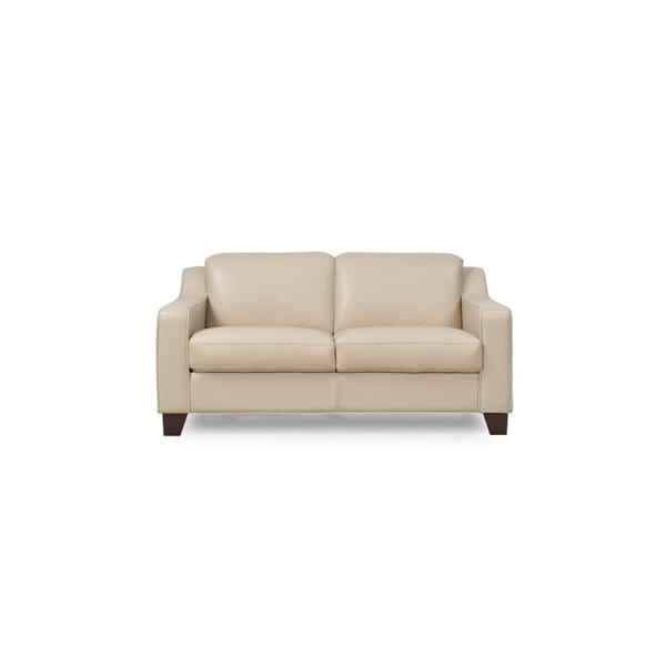 Cora Taupe Top Grain Leather Loveseat