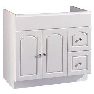 """Hardware House 419887 36"""" X 21"""" White Aspen Vanity"""