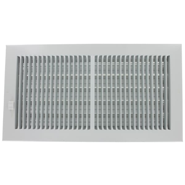 """American Metal Products 356W14X4 14"""" X 4"""" White Steel Wall Diffusers 1/3"""" Grille Bar"""