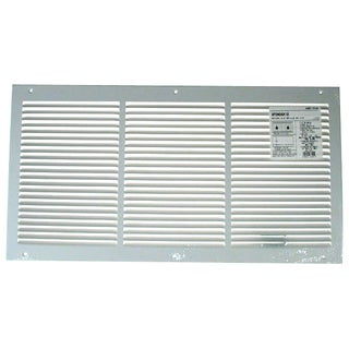 "American Metal Products 372W24X12R 24"" X 12"" White Return Air Grille 1/2"" Bar Spacing"