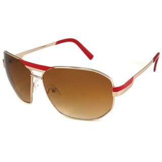 UrbanSpecs NY6000-RED Aviator Brown Gradient Sunglasses