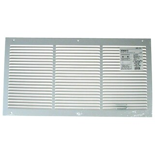 "American Metal Products 372W24X14 24"" X 14"" White Return Air Grille 1/2"" Bar Spacing"