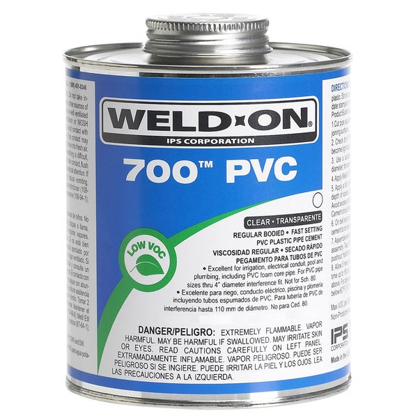 Ips Weldon 10081 1/2 Pint Clear 700 PVC Cement